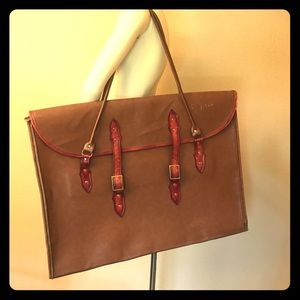 Vintage Bags - ♻️ Extra large vintage shoulder satchel
